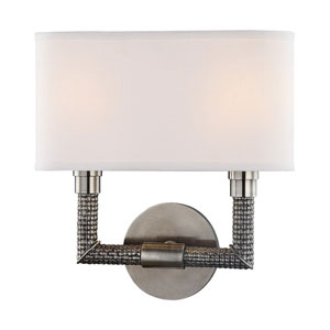 Dubois Historic Nickel 11-Inch Two-Light Wall Sconce