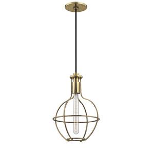 Colebrook Aged Brass One-Light Pendant