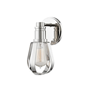 Red Hook Polished Nickel One-Light Wall Sconce