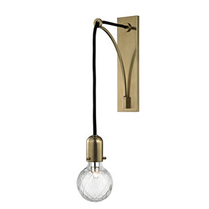 Marlow Aged Brass One-Light Wall Sconce