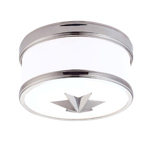 Seneca Polished Chrome One-Light Flush Mount with Opal Glass