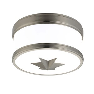 Seneca Satin Nickel One-Light Flush Mount with Opal Glass