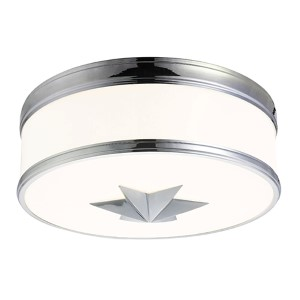 Seneca Polished Chrome Three-Light Flush Mount with Opal Glass