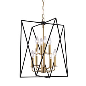 Laszlo Aged Brass 18-Inch Eight-Light Pendant