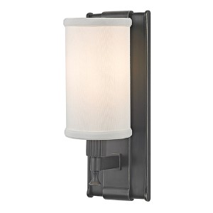 Palmdale Old Bronze One-Light Wall Sconce with White Shade