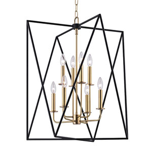 Laszlo Aged Brass 29-Inch Eight-Light Pendant