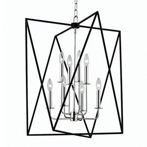 Laszlo Polished Nickel 29-Inch Eight-Light Pendant