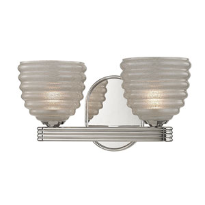 Thorton Polished Nickel Two-Light Vanity Fixture