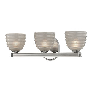 Thorton Polished Nickel Three-Light Vanity Fixture