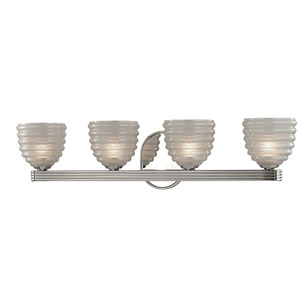 Thorton Polished Nickel Four-Light Vanity Fixture