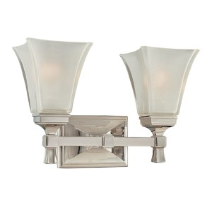 Kirkland Polished Nickel Two-Light Bath Fixture
