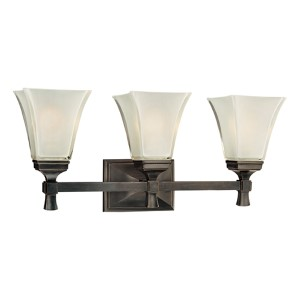Kirkland Old Bronze Three-Light Bath Fixture