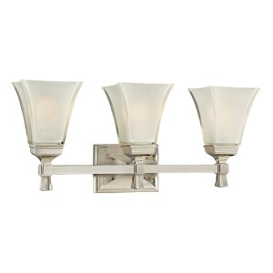 Kirkland Polished Nickel Three-Light Bath Bracket