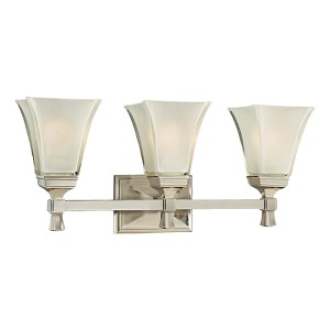 Kirkland Satin Nickel Three-Light Bath Bracket