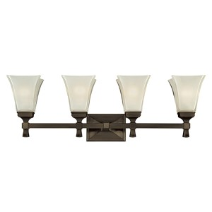 Kirkland Old Bronze Four-Light Bath Bracket