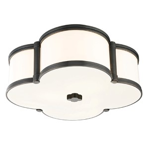 Chandler Old Bronze Three-Light Flush Mount with Opal Glass