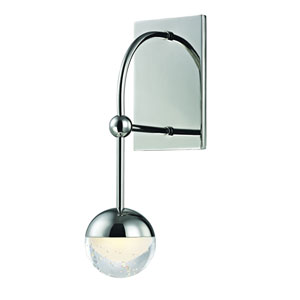 Boca Polished Nickel LED Wall Sconce