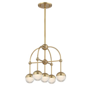 Boca Aged Brass LED Chandelier