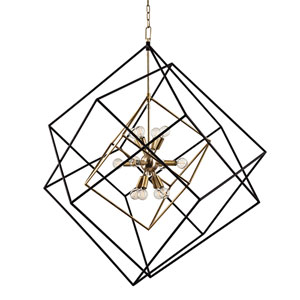 Roundout Aged Brass 12-Light Pendant