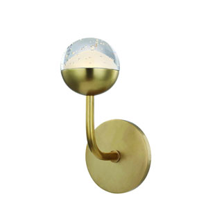 Boca Aged Brass LED Bath Sconce