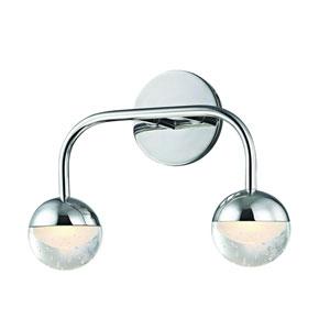 Boca Polished Chrome LED Bath Sconce