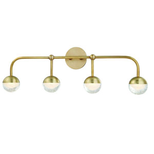 Boca Aged Brass LED Bath Vanity
