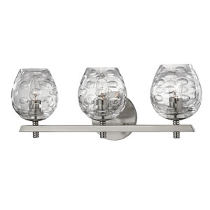 Burns Satin Nickel Three-Light Vanity Fixture