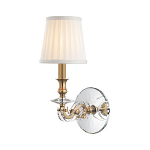 Lapeer Aged Brass One-Light Wall Sconce