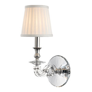 Lapeer Polished Nickel One-Light Wall Sconce