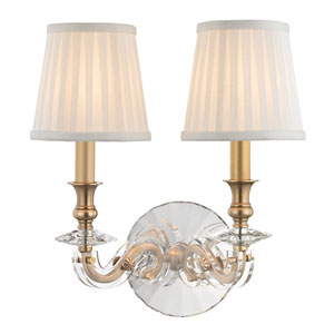 Lapeer Aged Brass Two-Light Wall Sconce