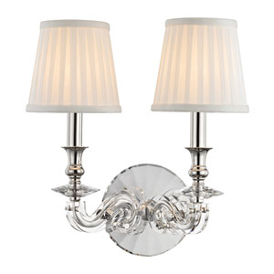 Lapeer Polished Nickel Two-Light Wall Sconce