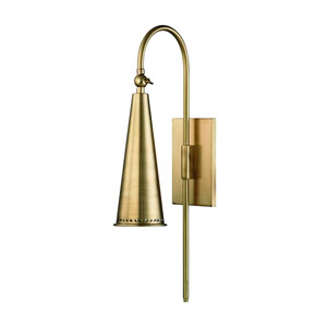 Alva Aged Brass One-Light Wall Sconce