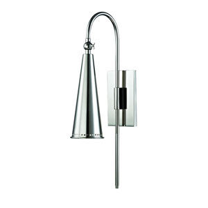 Alva Polished Nickel One-Light Wall Sconce