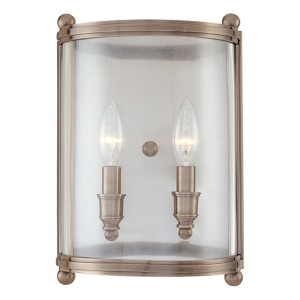 Mansfield Two-Light Antique Nickel Sconce
