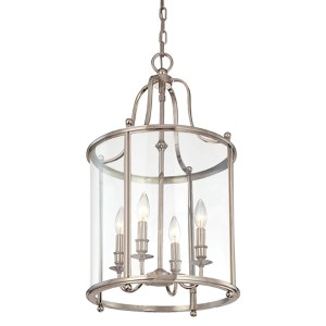 Mansfield Four-Light Polished Nickel Lantern Pendant