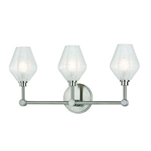 Orin Satin Nickel LED Bath Sconce