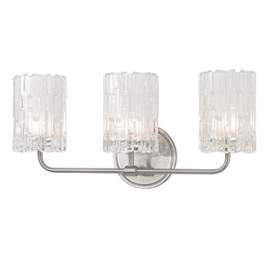 Dexter Satin Nickel Three-Light Vanity Fixture