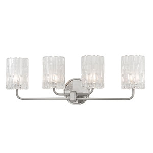 Dexter Satin Nickel Four-Light Vanity Fixture