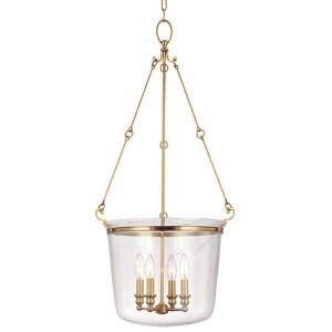 Quinton Aged Brass Four-Light Lantern Pendant