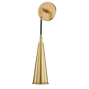 Alva Aged Brass One-Light Wall Sconce