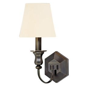 Charlotte Old Bronze One-Light Wall Sconce with White Shade
