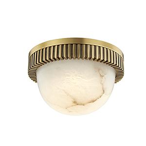 Ainsley Aged Brass LED 5-Inch Flush Mount