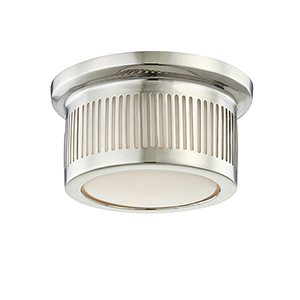 Bangor Polished Nickel LED 6-Inch Flush Mount