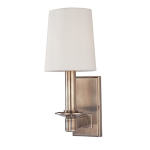 Spencer Historic Nickel One-Light Sconce