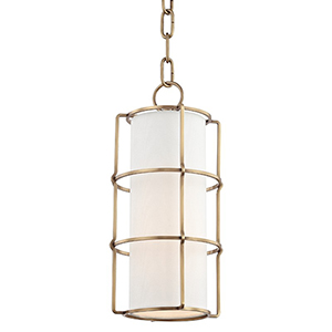 Sovereign Aged Brass LED 7-Inch Mini Pendant