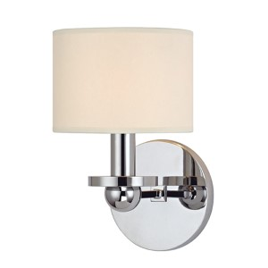 Kirkwood Polished Chrome One-Light Wall Sconce with Cream Shade