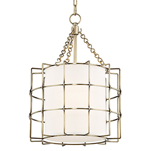 Sovereign Aged Brass LED 16-Inch Pendant