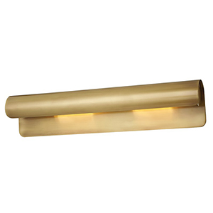 Accord Aged Brass 2-Light 5.5-Inch Wall Sconce