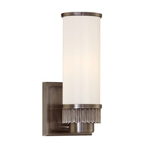 Harper Antique Nickel One-Light Wall Sconce
