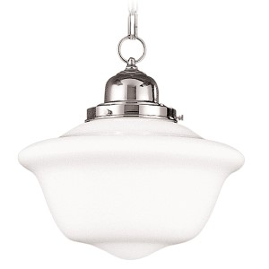 Edison Polished Nickel 12-Inch Pendant